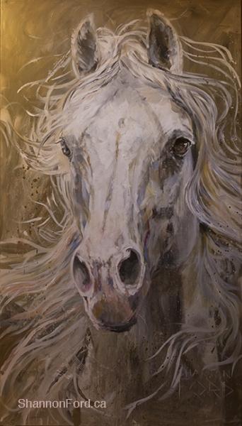 Shannon Ford, Thief of Hearts, 84 X 48 D, Acrulic on Canvas Diamond Dust, Palladium, Pyrite  lr