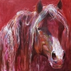 Shannon Ford, Red Mystery, 60 X 60 SD, Acrylic with Diamond Dust .jpg
