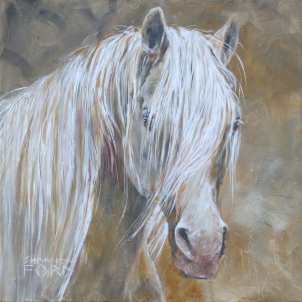 Shannon-Ford-Thoughtful-Stallion-inspired-by-FV-Aur-Mystique-of-the-Fairview-Arabian-Stud-36-X-36N-Acrylic-on-Canvas-with-Pipestone-Moonstones-Diamond-Dust-CADD0693-s--768x768