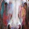 Shannon Ford, Nobility, 48 X 18, Acrylic on Canvas with Pipestone, Available at The Lloyd Gallery