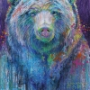Shannon Ford, Dripping Grizzly Blues, 48 X 60 N, Acrylic on Canvas with Diamond Dust, CADD121557SF s