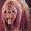 Shannon Ford, Grizzly Early Dawn, 24 X 20 N, Acrylic on Canvas with Diamond Dust lr