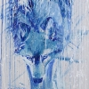 Shannon Ford, Yearling Wolf - Essence, 36 X 24 D, Acrylic on Canvas with Diamond Dust, White Gold, Lapis Lazuli, Cut Sapphires lr