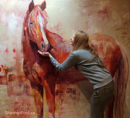 Shannon Ford with Red Colt