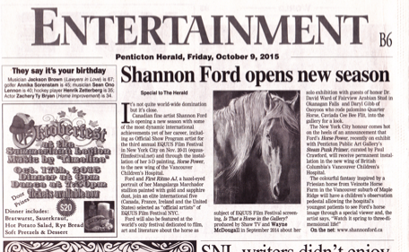 Shannon Ford Penticton Herald October 9 2015 s